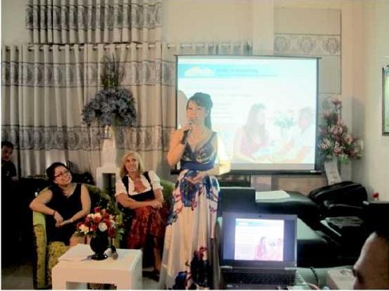 Tại lễ khai trương Shape Line Việt Nam, Giám đốc Sonja Diem chia sẻ: