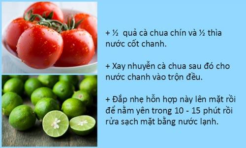 Trẻ hóa da với cà chua và chanh