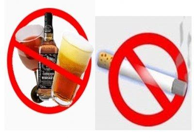 Hạn chế rượu và tránh hút thuốc