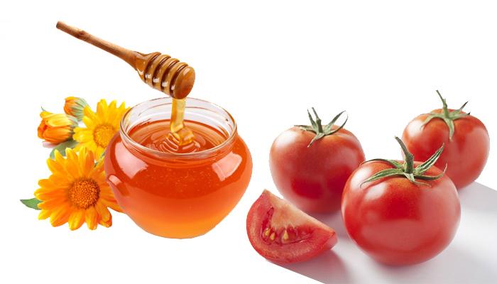 Giảm nếp nhăn với cà chua và mật ong