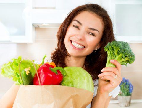 Ăn nhiều hoa quả, rau củ