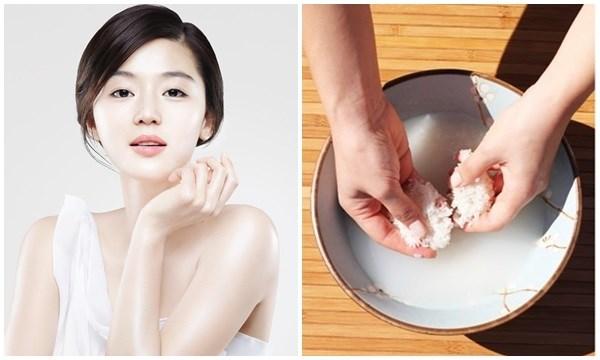 sử dụng nước gạo để làm trắng da